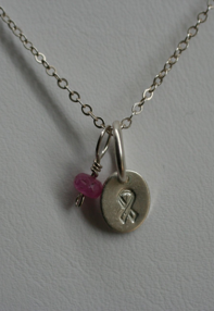 pink ribbon necklace 2009