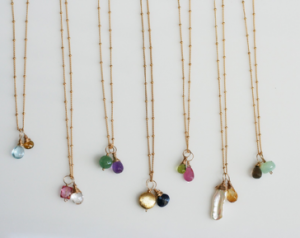 gem drops necklaces