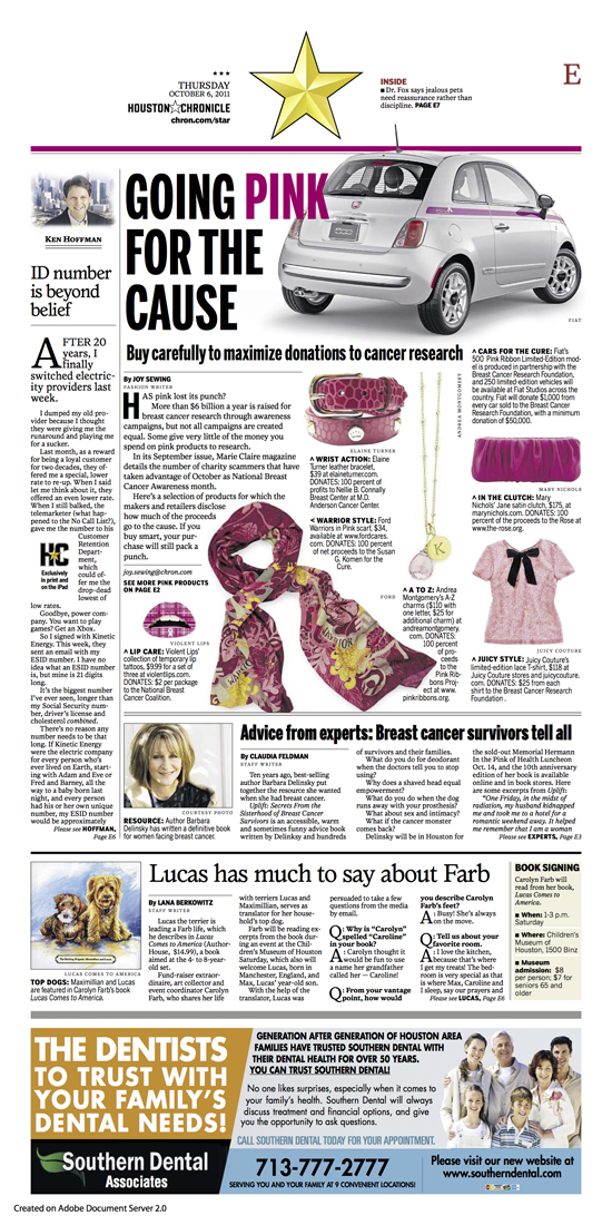 Houston Chronicle BCA feature