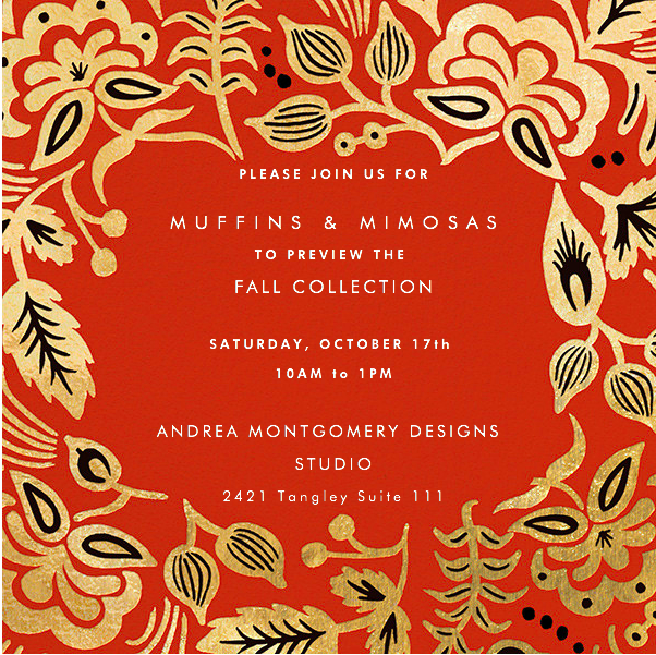 Fall Collection Invitation