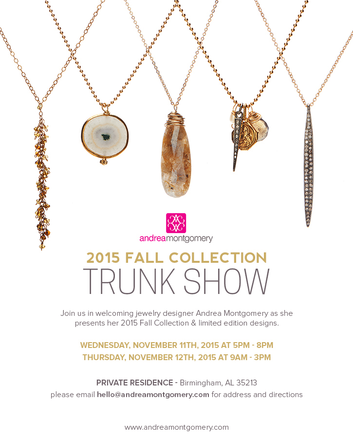 Birmingham Fall Trunk Show Invitation