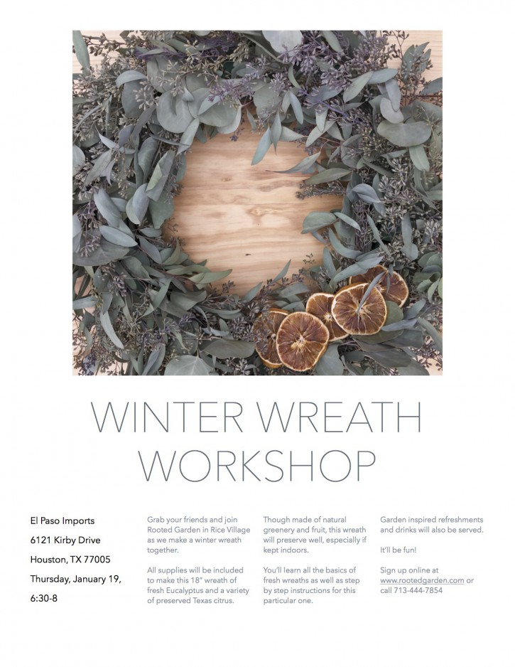 Winter Wreath Workshop Flier