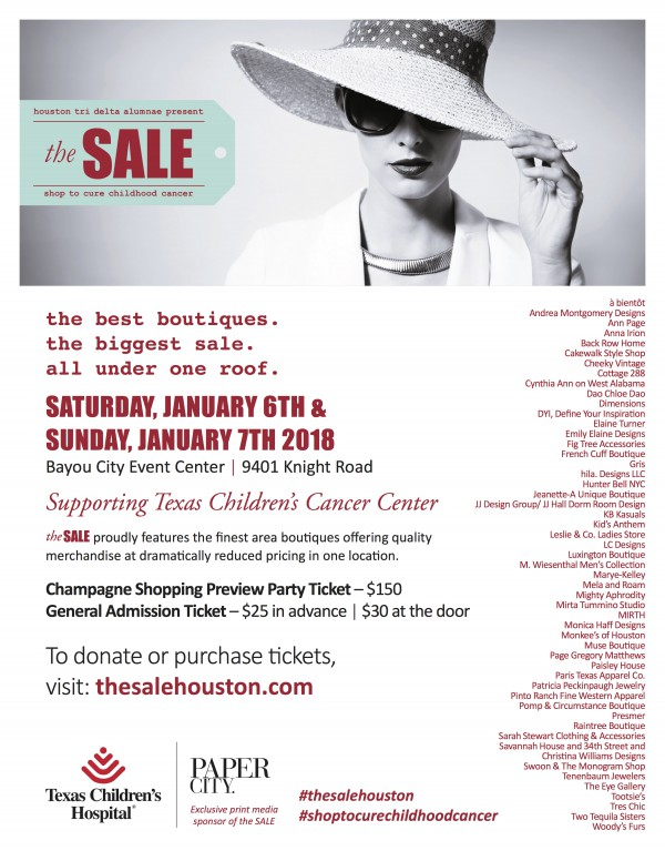 the SALE flyer